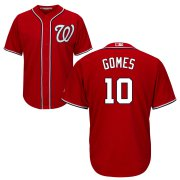 Wholesale Cheap Nationals #10 Yan Gomes Red Cool Base Stitched MLB Jersey