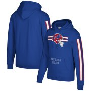 Wholesale Cheap Buffalo Bills Mitchell & Ness Three Stripe Pullover Hoodie Royal