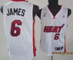 Wholesale Cheap Miami Heat #6 LeBron James White Swingman Jersey