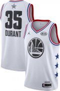 Wholesale Cheap Jordan Men's 2019 NBA All-Star Game #35 Kevin Durant White Dri-FIT Swingman Jersey