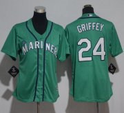 Wholesale Cheap Mariners #24 Ken Griffey Green Cool Base Stitched Youth MLB Jersey