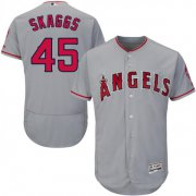 Wholesale Cheap Angels of Anaheim #45 Tyler Skaggs Grey Flexbase Authentic Collection Stitched MLB Jersey