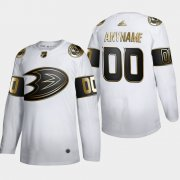 Wholesale Cheap Anaheim Ducks Custom Men's Adidas White Golden Edition Limited Stitched NHL Jersey