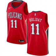 Wholesale Cheap Nike New Orleans Pelicans #11 Jrue Holiday Red NBA Swingman Statement Edition Jersey