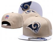 Wholesale Cheap Rams Team Logo Cream Adjustable Hat TX