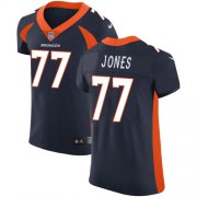 Wholesale Cheap Nike Broncos #77 Sam Jones Navy Blue Alternate Men's Stitched NFL Vapor Untouchable Elite Jersey