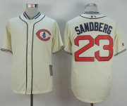 Wholesale Cheap Cubs #23 Ryne Sandberg Cream 1929 Turn Back The Clock Stitched MLB Jersey