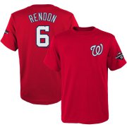 Wholesale Cheap Washington Nationals #6 Anthony Rendon Majestic Youth 2019 World Series Champions Name & Number T-Shirt Red