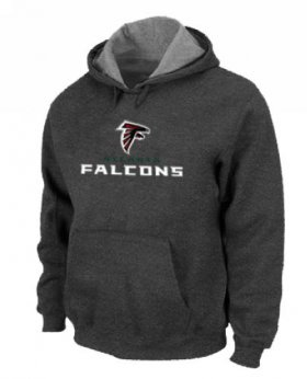 Wholesale Cheap Atlanta Falcons Authentic Logo Pullover Hoodie Dark Grey