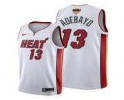 Wholesale Cheap Men's Miami Heat #13 Bam Adebayo 2020 White Finals Bound Association Edition Stitched NBA Jersey