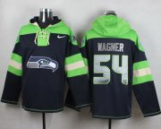 Wholesale Cheap Nike Seahawks #54 Bobby Wagner Steel Blue Player Pullover NFL Hoodie