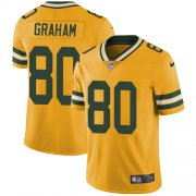 Wholesale Cheap Nike Packers #80 Jimmy Graham Yellow Men's Stitched NFL Limited Rush Jersey