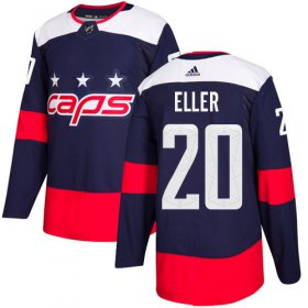 Wholesale Cheap Adidas Capitals #20 Lars Eller Navy Authentic 2018 Stadium Series Stitched NHL Jersey
