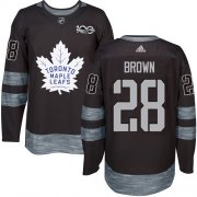 Wholesale Cheap Adidas Maple Leafs #28 Connor Brown Black 1917-2017 100th Anniversary Stitched NHL Jersey