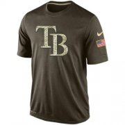 Wholesale Men's Tampa Bay Rays Salute To Service Nike Dri-FIT T-Shirt