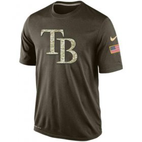 Wholesale Cheap Men\'s Tampa Bay Rays Salute To Service Nike Dri-FIT T-Shirt