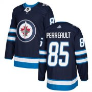 Wholesale Cheap Adidas Jets #85 Mathieu Perreault Navy Blue Home Authentic Stitched NHL Jersey