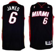 Wholesale Cheap Miami Heats #6 LeBron James Revolution 30 Swingman 2013 Black Jersey