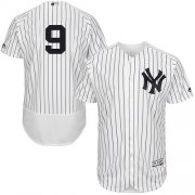 Wholesale Cheap Yankees #9 Roger Maris White Strip Flexbase Authentic Collection Stitched MLB Jersey