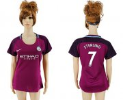 Wholesale Cheap Women's Manchester City #7 Sterling Away Soccer Club Jersey