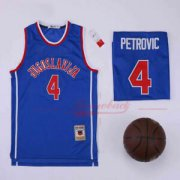 Wholesale Cheap Men's Jugoslavija #4 Drazen Petrovic Blue Basketball Jersey