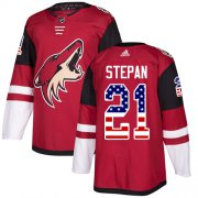 Wholesale Cheap Adidas Coyotes #21 Derek Stepan Maroon Home Authentic USA Flag Stitched Youth NHL Jersey