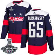 Wholesale Cheap Adidas Capitals #65 Andre Burakovsky Navy Authentic 2018 Stadium Series Stanley Cup Final Champions Stitched NHL Jersey