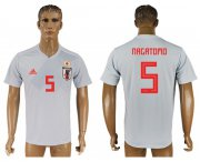 Wholesale Cheap Japan #5 Nagatomo Away Soccer Country Jersey