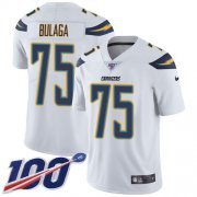 Wholesale Cheap Nike Chargers #75 Bryan Bulaga White Youth Stitched NFL 100th Season Vapor Untouchable Limited Jersey