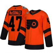 Wholesale Cheap Adidas Flyers #47 Andrew MacDonald Orange Authentic 2019 Stadium Series Stitched Youth NHL Jersey