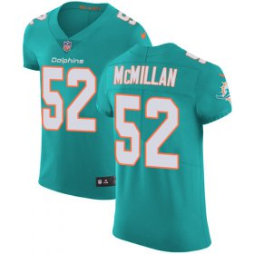 Wholesale Cheap Nike Dolphins #52 Raekwon McMillan Aqua Green Team Color Men\'s Stitched NFL Vapor Untouchable Elite Jersey