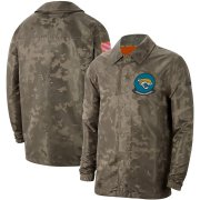 Wholesale Cheap Men's Jacksonville Jaguars Nike Camo 2019 Salute to Service Sideline Full-Zip Lightweight Jacket