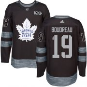 Wholesale Cheap Adidas Maple Leafs #19 Bruce Boudreau Black 1917-2017 100th Anniversary Stitched NHL Jersey