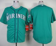 Wholesale Cheap Mariners Blank Green Alternate Cool Base Stitched MLB Jersey