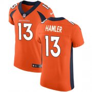 Wholesale Cheap Nike Broncos #13 KJ Hamler Orange Team Color Men's Stitched NFL Vapor Untouchable Elite Jersey
