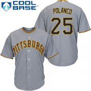 Wholesale Cheap Pirates #25 Gregory Polanco Grey Cool Base Stitched Youth MLB Jersey