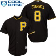 Wholesale Cheap Pirates #8 Willie Stargell Black Cool Base Stitched Youth MLB Jersey