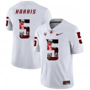 Wholesale Cheap Washington State Cougars 5 Travell Harris White Fashion College Football Jersey