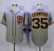 Wholesale Cheap Giants #35 Brandon Crawford Grey Road 2 New Cool Base Stitched MLB Jersey