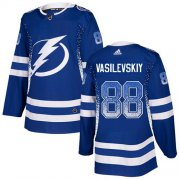 Wholesale Cheap Adidas Lightning #88 Andrei Vasilevskiy Blue Home Authentic Drift Fashion Stitched NHL Jersey