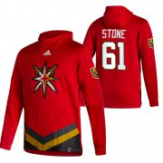 Wholesale Cheap Vegas Golden Knights #61 Mark Stone Adidas Reverse Retro Pullover Hoodie Red