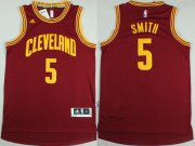 Wholesale Cheap Cleveland Cavaliers #5 J.R. Smith Revolution 30 Swingman 2014 New Red Jersey