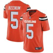 Wholesale Cheap Nike Browns #5 Case Keenum Orange Alternate Men's Stitched NFL Vapor Untouchable Limited Jersey