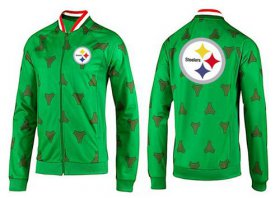 Wholesale Cheap NFL Pittsburgh Steelers Team Logo Jacket Green