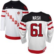 Wholesale Cheap Olympic CA. #61 Rick Nash White 100th Anniversary Stitched NHL Jersey