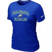 Wholesale Cheap Women's Nike Philadelphia Eagles Heart & Soul NFL T-Shirt Blue