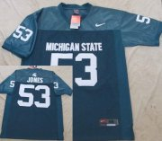 Wholesale Cheap Michigan State Spartans #53 Greg Jones Green Jersey