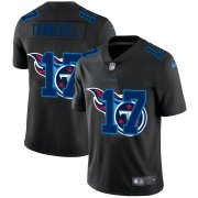 Cheap Tennessee Titans #17 Ryan Tannehill Men's Nike Team Logo Dual Overlap Limited NFL Jersey Black