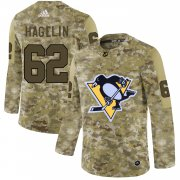 Wholesale Cheap Adidas Penguins #62 Carl Hagelin Camo Authentic Stitched NHL Jersey