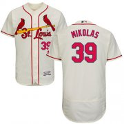 Wholesale Cheap Cardinals #39 Miles Mikolas Cream Flexbase Authentic Collection Stitched MLB Jersey